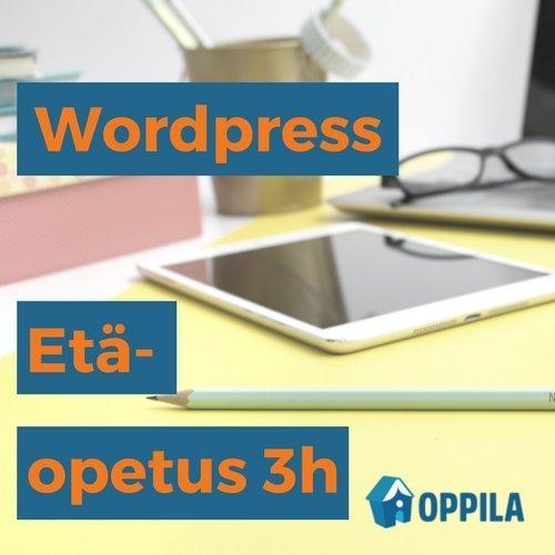 WordPress-etäopetus 3h