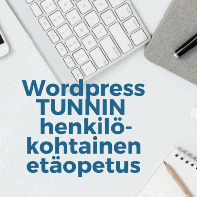 wordpress etäopetus 1h