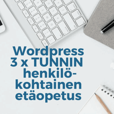 Wordpress etäopetus 3h