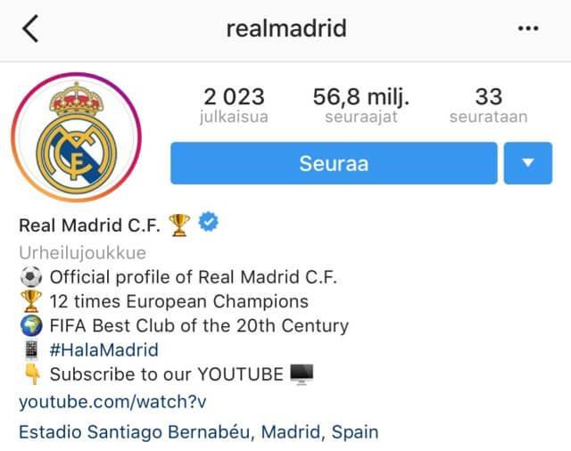 Real Madrid Instagram