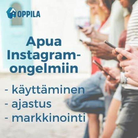 Oppilan Instagram-valmennus