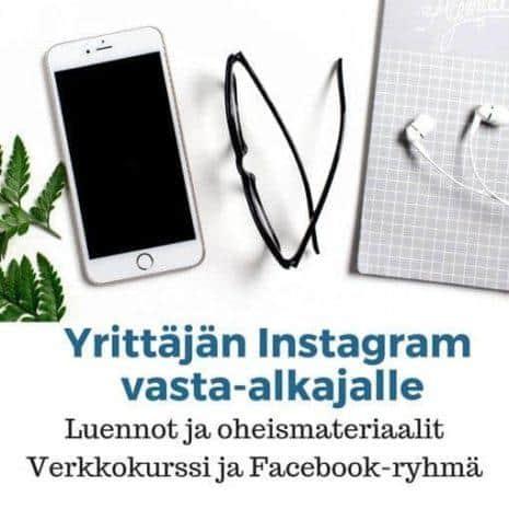 Yrittäjän Instagram verkkokurssi